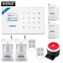 KERUI W18 New Arrival Wireless GSM WiFi Home Burglar Security Alarm Systems House Door Window Alarms with Motion Sensor Detector