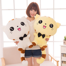 35CM not include Tail Cute Large Size Cat Plush Stuffed Toys Pillow Birthday Gift Cushion Fortune Cat Doll Pusheen Kawaii Plush(China)