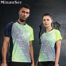 Custom Name sports Tennis shirt sportswear shirt Women / Men , Badminton Wear shirt , Dry-cool Badminton shirt 1013(China)