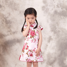 Easter Gift Summer New Style Cheongsams For Little Girls Chinese Dress For Children Tang Suit Baby Girl Princess Dresses Clothes
