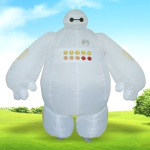 Christmas Costume for Women Men Purim Easter Carnival Adult Inflatable Big Hero 6 White Baymax Costume  Funny Game Dress