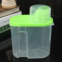 2016 Green 1.9L Plastic Kitchen Food Cereal Grain Bean Rice Storage Container Box Case New Arrival