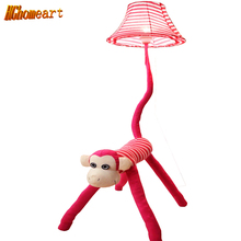 Hghomeart Cartoon Striped Monkey Creative Fashion Floor Lights Modern for Children's Room Rustic Indoor Floor Lamp(China)
