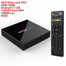 Buy M96X plus Android TV Box Amlogic S912 Octa core 2GB/16GB Bluetooth Android 7.1 OS 2.4G/5G Dual WIFI 1000M Lan KODI H.265 4K 3D for $56.01 in AliExpress store