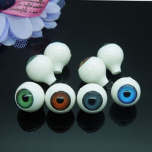 Free shipping 16Pcs(8pairs) Acrylic Plastic Doll Eyes BJD EYES, Doll Dollfie Eyes Eyeballs Mix color 12mm EA121(China)