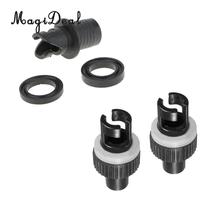 MagiDeal Durable 3 Pcs / Set Marine Inflating Air Pump Hose Valve Adapter for Inflatable Boat Kayak Canoe Rowing Accessory Black