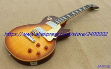 Custom Electric Guitar,LP standard,yellowish binding,relice effect.High Quality, Wholesale & Retail, Real photo showing