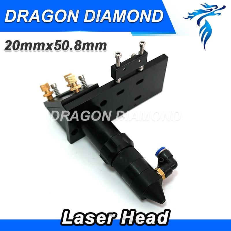 Hot Sale CO2 Engraver Cutter Laser Head Set 50.8mm Focal Focus Lens Mirror Integrative Mount<br>