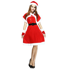 New Female Christmas Dress Halloween Masquerade Disfraces Uniform Temptation Game Role Play Dance Costumes CK168305(China)