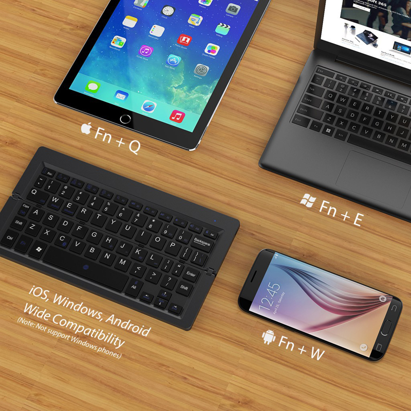 7 Folding Keyboard Bluetooth Wireless