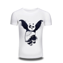 2016 New kungfu Panda lovely 3D t shirt men originality fashion cartoon shirt Brand Clothing comfortable cotton tops