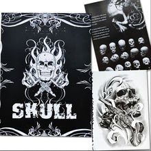 Tattoo Book 76 Pages Selected Skull Design Sketch Flash Book Tattoo Art Supplies A4