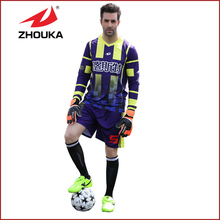2016 Newest  top Thai quality sublimated printing long sleeve Men's football uniform soccer jersey