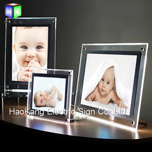 Indoor Display Advertising Picture Photo Frame slim led light box for wall mounted or free table standing(China)