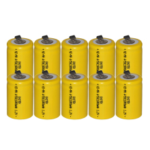 10PCS Sub C 4/5SC 1.2V rechargeable battery 1800mah ni-mh nimh cell with welding legs pins tab for vacuum cleaner electric drill