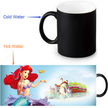Little Mermaid Magic Mug Custom Photo Heat Color Changing Morph Mug 350ml/12oz Coffee Mug Beer Milk Mug Halloween Gift