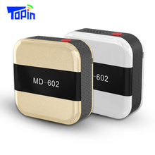 2017 New Topin MD602 Mini GPS Trackers Locator with SOS Alarm Real-time Positioning Historical Tracking for Kid Children Pet Car(China)