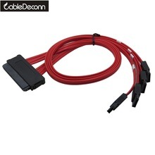 sff 8484 sas 32 pin  to 4 x 7 pin internal cable serial attached scsi 50cm