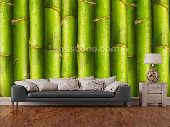Custom photo wallpaper, Bamboo - Light Green,3D wallpaper mural for living room bedroom restaurant wall waterproof PVC wallpaper<br>