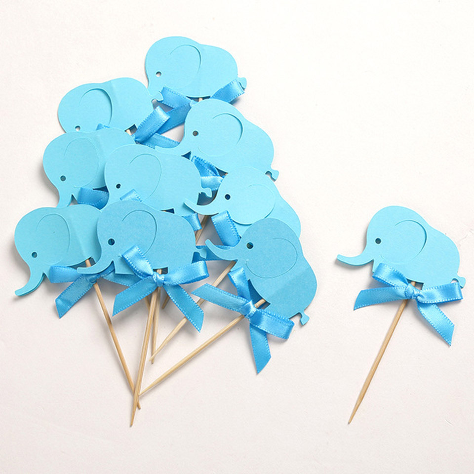 Custom-Bow-Blue-Elephant-Cupcake-Toppers-Baby-Shower-for-Boy-s-Birthday-Party-Decoration-Favors-Cake.jpg_640x640