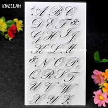 Искусство Английский алфавит записки DIY фото карты учетной записи штамп ясно штамп прозрачный штамп 10x19 см 7063064(China)