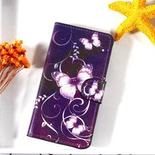 For Lenovo A 2010 A2010 August 2010 Flip Case PU Leather Card Holder Stand Smartphone Cover Fundas Elegant Flower Butterfly Bag