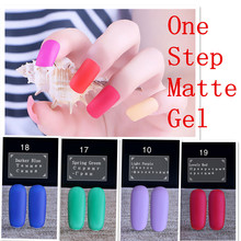 MATTE Already 3 in 1 one step Nail Gel Gel Polish 2017 Latest Nail Gel No Need Base Top Coat Polish good factory price pretty