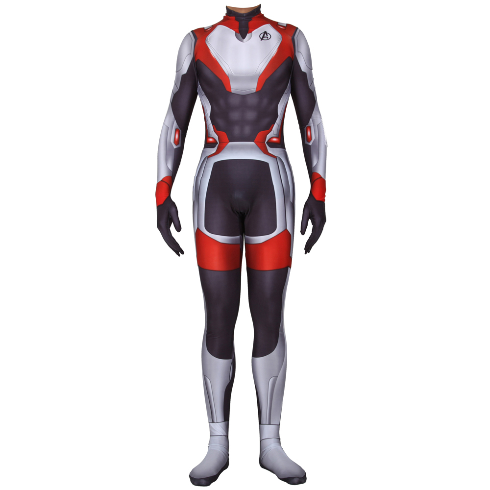 The Avengers 4 Endgame Quantum Realm Cosplay Costume Zentai Suit Men Boys Superhero Halloween Event Costume Jumpsuit