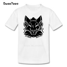 Cyber Squad Black Boys Girls T Shirt 100% Cotton Short Sleeve O Neck Tshirt children's Clothing 2017 Popular T-shirt For Kids