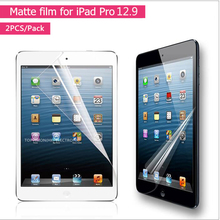 2PC/ Pack frosted anti glare matte screen protector for apple ipad pro 12.9 film fit 2015 2017 machine together protective guard(China)