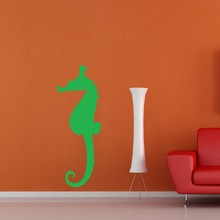 Ocean Sea Theme Seahorse Wall Decal Florida Seaweed Reef Vinyl Lovely Fish Home Decor Nemo Kids Bedroom Wall Stickers SYY206(China)