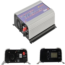 500W LCD Grid Tie Power Inverter for DC Output Wind Turbine MPPT Pure Sine Wave Inverter with Built-in Dump Load Controller