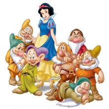 Round diamond embroidery Snow White and the seven dwarfs needlework cross stitch round resin full diamond painting wall picture(China)