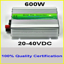 600W 20-40VDC MPPT Grid Tie Inverter for 600-720W 24V 48cells or 30V 60cells PV Solar panel, 90-260VAC Wind Power Inverter 600W