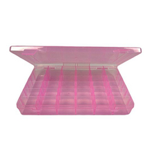 Portable 36-Grid Clear Hard Plastic Adjustable Jewelry Organizer Box Storage Container Case with Removable Dividers (Pink)(China)