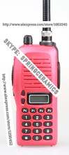 Red IC-3FGX waterproof walkie talkie VHF 245-246MHz 5.5W 100 Channels DTMF Encoder Marine Two way Radio