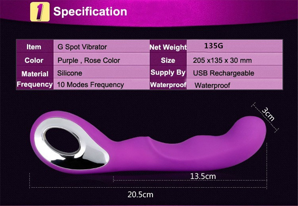 USB Charging Waterproof 10-Frequency Vibrating toys,dildo,Adult Sex Toys For woman,Clit Vibrator,Sex Products G-spot Clitoris 93 1