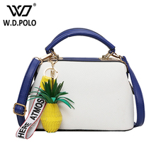 WDPOLO new leather with pineapple charm women bags super chic lady shoulder bags fashion crossbody bags bolsa AA019
