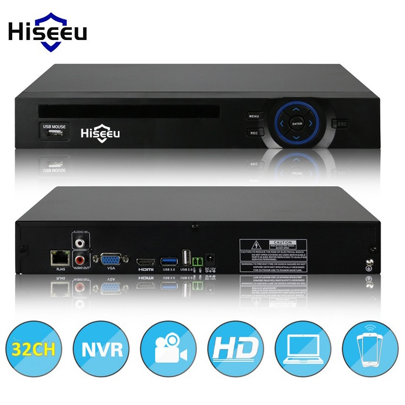2HDD 24CH 32CH CCTV NVR 720P 960P 1080P 3M 5M DVR Network Video Recorder H.264 Onvif 2.0 for IP Camera 2 SATA XMEYE P2P Cloud