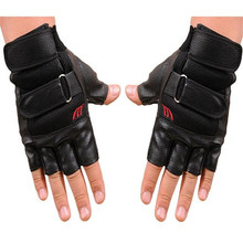 Rushed Price Men Exercise Fitness Half Finger Leather Gloves fitness women gloves winter hand warmer men gloves motocycle(China)
