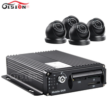 CCTV Sercity Camera Mobile Dvr Kits 4Pcs Mini Metal Dom Waterproof Camera With IR Night Vision +3G Real Time GPS Track Mdvr
