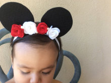 l Mickey Minnie Mouse Ears Headbands Cute cat  Ears Bow Hair Bands Headwear for Birthday hair accessories