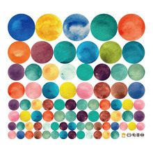 Home Decor DIY Wall Stickers Colorful Circle Removable Art Decals Paste For Kindergarten Baby Bedroom TV Background 201