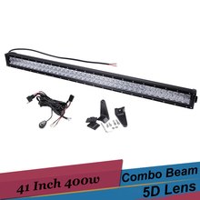 5D 41'' 400W LED Light Bar off road LED Driving Bar for Jeep Toyota RAV4 Sequoia Ford Edge 4x4 AWD Truck Pickup SUV DRL Fog Lamp