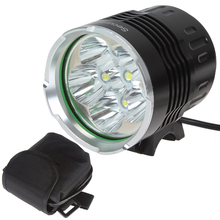 3600Lm 6 x XM-L T6 LED Aluminum Alloy Glass Lens 3 Modes Super Bright Bicycle Light + 8000mAh Battery Pack(China)