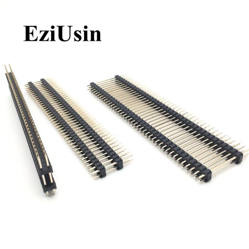 30Pcs 40Pin 2.54MM Single Row Right Angle Pin Header Strip Arduino Kit oe