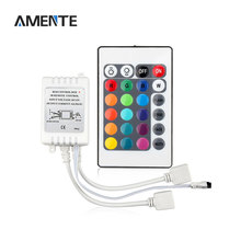 24 Keys RGB IR Remote Controller 2 Output Connector DC 12V Lamp Dimmers for RGB LED Strip SMD2835 3528 5050 5630