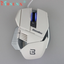 Beautiful Gift 100% Brand New Fashion Bazalias 2000 DPI 6 Button USB Wired Optical Game Gaming Mouse Mice PC Free Shipping Dec17