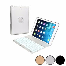 Summer 2016 Wireless Keyboard with USB Micro Silver Bluetooth for Apple Cover iPad Air 2 Case MacBook Laptop Backlight suporte(China)