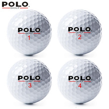 High Quality Brand POLO Golf 3 Layer/Three Piece Balls 12 Pieces/Lot Sports Game Golf Balls Distance Competition Promote 2017(China)